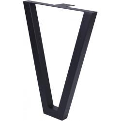 Опора для стола V-образная  Н=820*550, черный муар без фланца