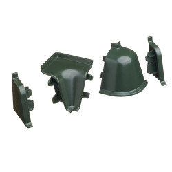 Комплект углов 118,зеленый (1 внут/1 наруж/2 заглушки)                          REHAU (12297251009)
