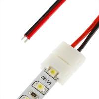 Коннектор  для диодной ленты (подводящий кабель)  3528 с проводом 15 см               Лайт(СЛ066517)
