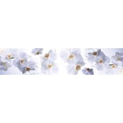 МДФ глянец стен .влагоустойч. 2800х600х6   Орхидея белая (FM 016)
