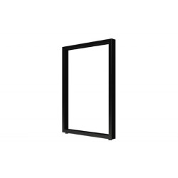 Опора для стола П-образная  Н=820-870*560, черный муар без фланца