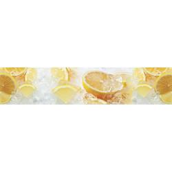 МДФ глянец стен. влагоустойч. 2800х600х6   Лимоны во льду  (FM 050)