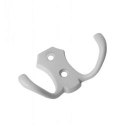 Крючок двойной, белый                                   SETE (К-RENAL2-10)