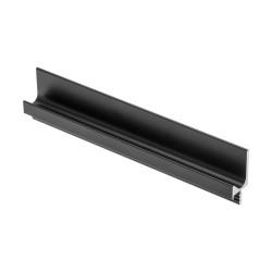 """Ручка-профиль врезная    """" L - образная""""  черный матовый   (3,5м)  под 18 мм GTV (PA-0243-35-50-20M)"""