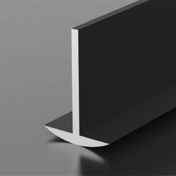 Т- профиль стыковочный для столешниц и панелей  K1-01 СМ мат.черный , 6 м