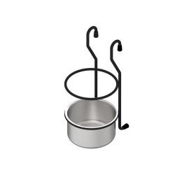 Полка релинга, черный  стакан подвесной                                      REJS (WE04.0009.10.799)