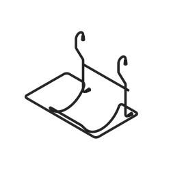 Полка релинга, черная  для бумаги 1-я                                        REJS (WE04.0007.01.799)