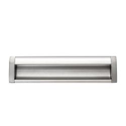Ручка врезная алюминиевая 160мм заглушки мат.хром     GTV (UA-OO-326160)
