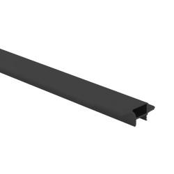 Профиль для навесных шкафов 16мм под диодную ленту  4,05 м черный мат (Рассеиватель П994 отдельно!!)