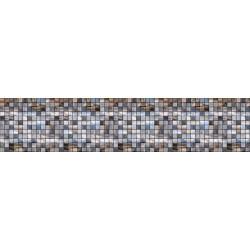 МДФ глянец  стен .влагоустойч. 2800х600х6    Мозаика серо синяя  (SP 052)