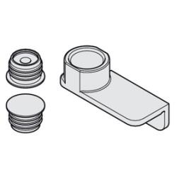 Магнитный фиксатор Hawa, алюминий, в комплекте со сверлильным шаблоном   HAFELE (408.30.229)