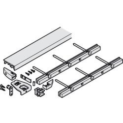 Нижний направляющий профиль Hawa-Folding concept 25, алюминий, 2000 мм           Hafele (408.30.432)