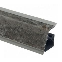 Плинтус столешницы Rehau 118 Черный мрамор L=4,2м (16060581001)