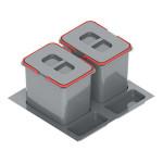 Контейнер для мусора PRAKTIKO, двойной 600 мм,2х15 L                         REJS (WE14.1821.05.049)