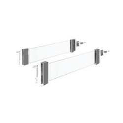 Надставка стекло  L 420 мм , h 176 антрацит DesignSide               Hettich (9194835)