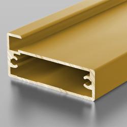 F1-11 Алюминиевый профиль рамочный золото, матовый 5,9м