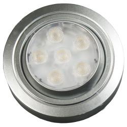 Светильник диодный 12 В, цвет алюм,  теплый белый 2,4W                          GLS (04.001.13.412)