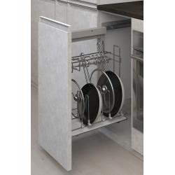 Карго боковое 450 графит  для сковородок Левое с доводчиком на напр.  BLUM           Starax (S-2882)