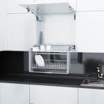 Сушка-лифт для посуды 600 мм, алюминий/хром  564x300x550             STARAX (S-5181)