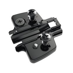 Монтажная планка H=3,0 мм с еврошурупом 3D  Sensys Черный обсидиан                 Hettich (9091805)
