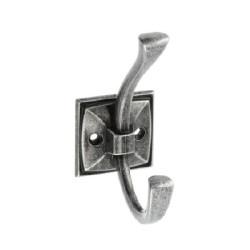 Крючок двойной, античное серебро MADRYT                             GTV (WZ-MADRYT-07)