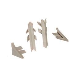 Комплект фасон.част PERFETTO LINE, серый  (1вн/1нар/2заг)                         REHAU (1219721013)