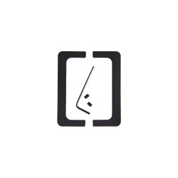 Комплект открытых заглушек C-обр, цвет черный                                    BOYARD (RZ050.01BL)