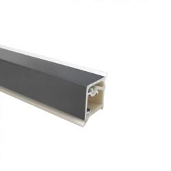 Плинтус алюминиевый 15 х 15  ,черный  (4,2м)                               VOLPATO (50/77.420.AL.09)