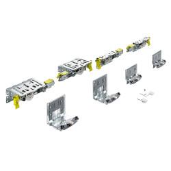 Комплект фурнитруы Top Line XL для 3 дверей, толщина двери 22-30 мм, 80 кг (9275785)