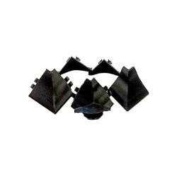 Комплект углов  к плинтусу, черный (1вн/1нар/2заг)                               Rehau (13523391006)
