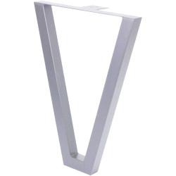 Опора для стола V-образная  Н=720*550, алюминий 9006 с фланцем