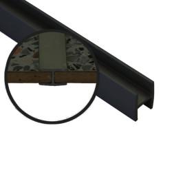 Соединение  д/фальш панели прямое алюм. 600*4 мм, ЧЕРНАЯ
