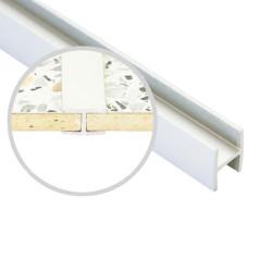Соединение  д/фальш панели прямое алюм. 600*6 мм, БЕЛОЕ