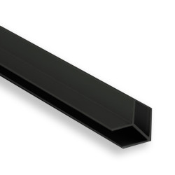Соединение  д/фальш панели угловое алюм. 600*4 мм, ЧЕРНАЯ