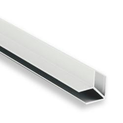 Соединение  д/фальш панели угловое алюм. 600*6 мм, БЕЛОЕ