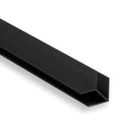 Соединение  д/фальш панели угловое алюм. 600*6 мм, ЧЕРНОЕ