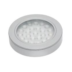 Светильник диодный 12 В, цвет алюминий,  теплый белый 1,7W      VASCO (LD-VA24CB-53)