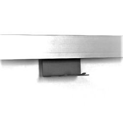 Крючок на рейлинг двойной  85x45x40 мм, цвет АНТРАЦИТ     KES(0089229844)