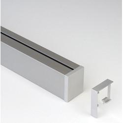 Рейлинг-профиль 1800 мм + 2 заглушки цвет нержавеющая сталь       KES (2349519845)
