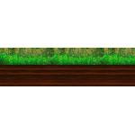 МДФ 2800х820х16 глянец Травка-темное дерево низ (01 KF 018 N)