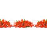 МДФ глянец  стен .влагоустойч.  2800х600х6   Красная лилия  (F 022)