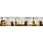 МДФ глянец стен. влагоустойч. 2800х600х6   Бокал  и бутылка с вином (SP 115)