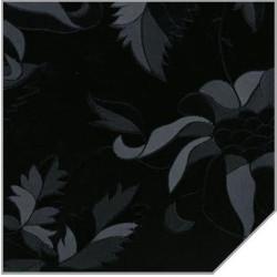 МДФ 2800*1220*18 черные листья глянец (SIYAH CICEKLI) 169
