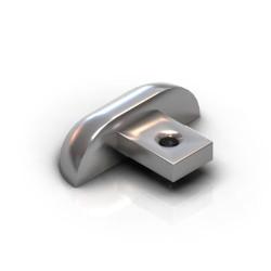 Заглушка алюм. для 1-й нижней направляющей хром АР-30