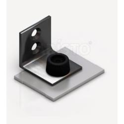 Заглушка для одинарной направляющей хром (верх+низ)