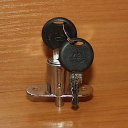 Замок для раздв. дверей нажимной, хром             МФ (3461) / GTV (ZZ-B0-105-01)