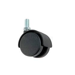 Ролик с резьбой  D-40,  М8, пластик черный