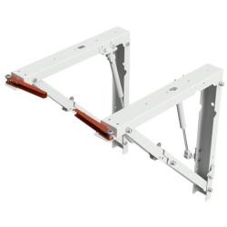 Кронштейн для откидного стола Протей 400 серый с газовыми лифтами (2шт)