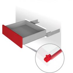 Направляющая скрытого монтажа полного выдвиж. 400мм PUSH  Boyard (DB8885Zn/400)/10