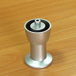 Ножка-рюмка пластик, серебро Н=50мм             МФ(1846)